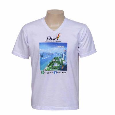 bonifor-brindes - Camiseta Gola V personalizada