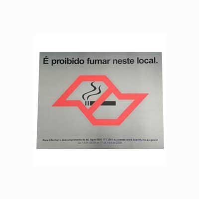 Parceria - Placa de sinalização confeccionada em aço escovado. Personalize já a sua!