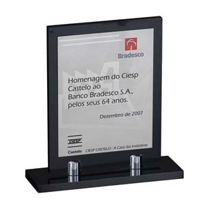 Parceria - Troféu de premiação confeccionado em aço inox.