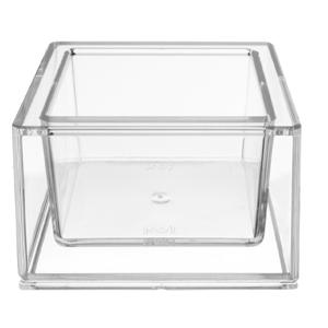 Kos Acrílicos - Copo de saque personalizado com formato quadrado, confeccionado em acrílico.