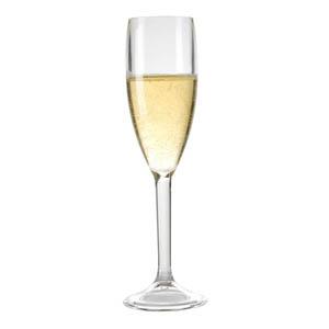 Kos Acrílicos - Taça champanhe confeccionada em acrílico. Capacidade 160 ml.