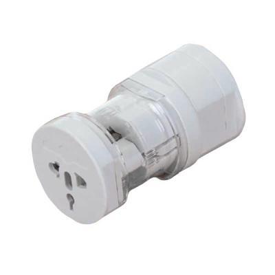 Crazy Ideas - Adaptador universal branco em plástico resistente com detalhe acrílico. Possui plug EU (EUROPA), Plug UK (INGLATERRA) e Plug USA/AU (ESTADOS UNIDOS/AU...
