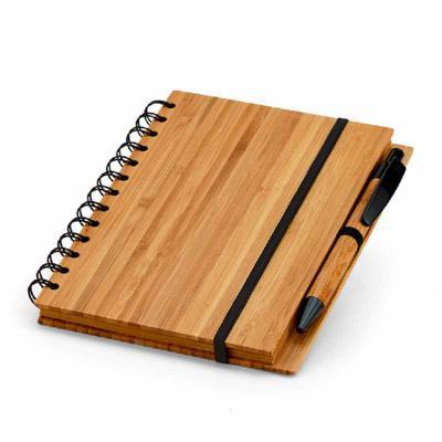 Crazy Ideas - Caderno. Bambu. Com 70 folhas pautadas de papel reciclado. Incluso esferográfica de bambu. 135 x 180 mm
