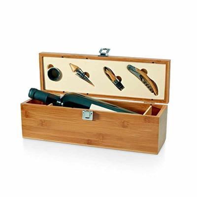 Crazy Ideas - Conjunto para vinho de bambu e zinco personalizado