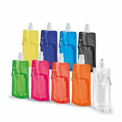 Crazy Ideas - Squeeze dobrável. PE. Capacidade até 460 ml. Food grade. 110 x 218 x 64 mm.