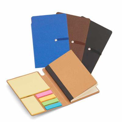 Crazy Ideas - Bloco de anotações com elástico, sticky notes, miolo sem pauta na cor bege.  Dimensão Produto: 14,4 x 9,4 x 1,0 cm.