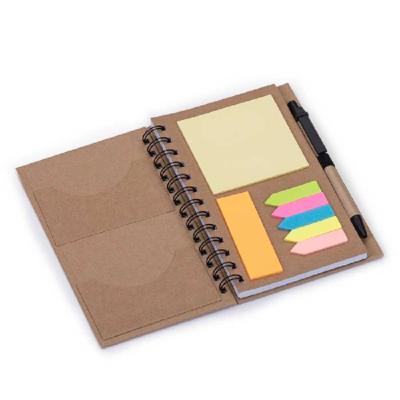 Crazy Ideas - Bloco de anotações ecológico com caneta e sticky notes. Bloco com dois suporte internos para cartão, possui cinco blocos auto-colantes com 20 folhas c...