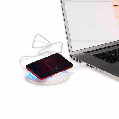 Crazy Ideas - Carregador de Telefone Celular Sem Fio Iluminação com variação de cores selecionável. Acompanha cabo USB.