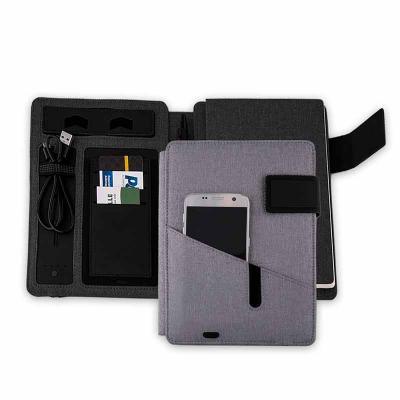 Crazy Ideas - Caderno com carregador power bank personalizado