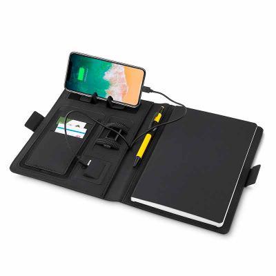 Crazy Ideas - Caderno com carregador power bank por indução personalizado