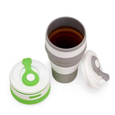Crazy Ideas - Copo de Silicone retrátil com tampa plástica e proteção do bico em silicone, capacidade 500ml.