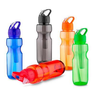Crazy Ideas - Garrafa plástica 700 ml com porta gelo e canudo, plástico utilizado AS (estireno de acrilonitrilo).
