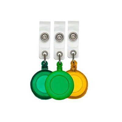 Crazy Ideas - Porta crachá retrátil de plástico resistente personalizado