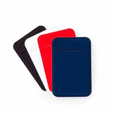 Crazy Ideas - Adesivo porta cartão com revestimento de laycra, para utilização basta remover o selo traseiro e colar a parte adesivada no celular.