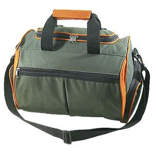 Crazy Ideas - Bolsa personalizada em poliéster 600, com 1 bolso frontal, bolsos nas laterais, alças de mão e ombro - Medidas: 44 x 29 x 33 cm.