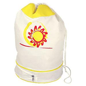 Crazy Ideas - Saco Mochila Personalizado em nylon 330, com bolso extensor inferior, tamanho médio - Medidas: 26 x 45 x 26 cm. Sua marca presente no dia a dia dos cl...
