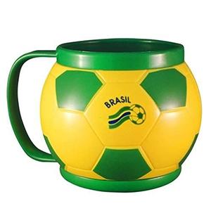 Crazy Ideas - Caneca em formato de bola de futebol.