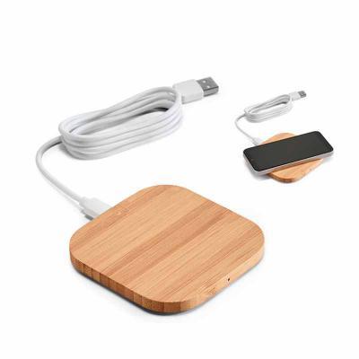 Crazy Ideas - Carregador wireless. Bambu. Input: 5V/2A. Potência máxima de carregamento de 5W. Incluso cabo USB/micro USB de 1 m para carregar. Compatível com smart...