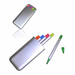 Crazy Ideas - Kit de canetas marca texto com estojo, cinco cores