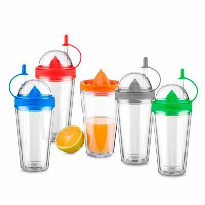 Crazy Ideas - Copo de plástico com espremedor de frutas 500 ml