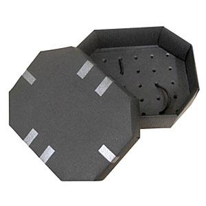 Crazy Ideas - Embalagem personalizada em collor plus preto, com tampa lisa, fundo canelado, cantos chanfrados, fechamento com tampa de encaixe - Medidas: 150 x 120...