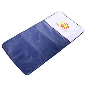 Crazy Ideas - Esteira personalizada para chão, ou cadeira em tnt com bolso chapado em nylon 330, zíper e cordão para ombro - Medidas: 66 x 1,35 cm.