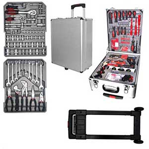 Crazy Ideas - Maleta - super kit com 186 peças contidas em uma maleta com rodinhas.Ideal para trabalhos de manutenção, consertos e reparos.
