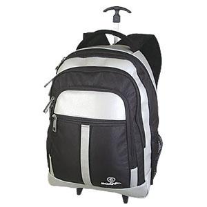Crazy Ideas - Mochila personalizada em poliéster 600, com sintético perfuro, carrinho, 3 bolsos frontais, sendo 1 com 2 bolsos internos, bolsos laterais, porta sque...