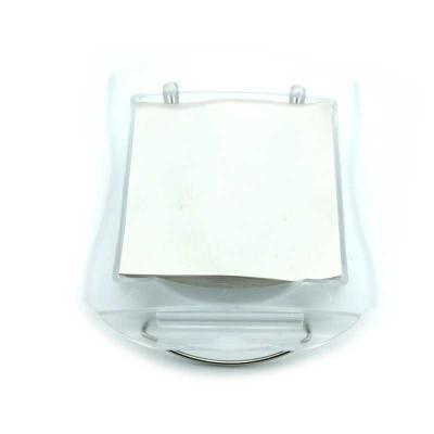 Crazy Ideas - Bloco de anotações em plástico frosty branco. Pode ser usado sobre a mesa ou no quebra-sol do carro. Possui clipe metálico para fixação.  Incluso bloc...