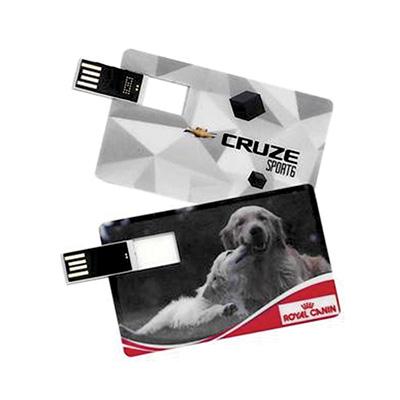 Crazy Ideas - Pen drive personalizado modelo cartão 4GB com chip lateral.