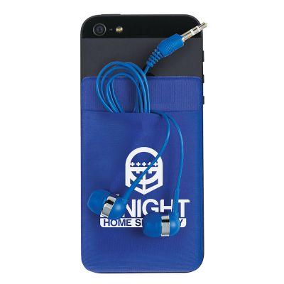 Crazy Ideas - Porta-cartão para celular compondo fones de ouvido