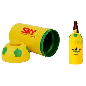 Crazy Ideas - Porta garrafa com capacidade para 600 ml - formato bola de futebol