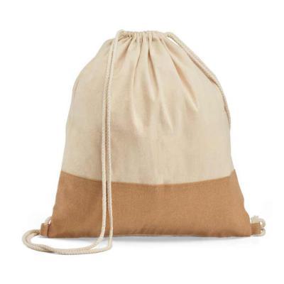 Crazy Ideas - Sacola tipo mochila. 100% algodão: 160 g/m². Detalhe em juta. Alças em algodão de 65 cm. 370 x 410 mm.
