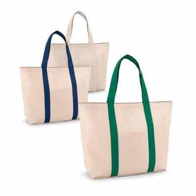Crazy Ideas - Sacola. 100% algodão canvas: 280 g/m². Bolso bolso frontal e bolso interior com zíper. Com fecho magnético e alças de 60 cm. 530 x 380 x 170 mm.