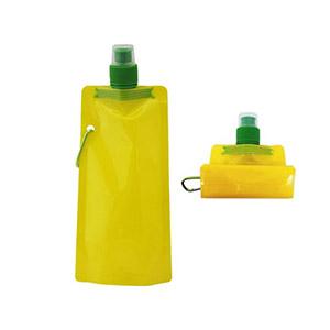 Crazy Ideas - Squeeze dobrável cor amarelo com mosquetão