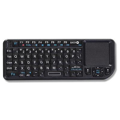 Crazy Ideas - Mini teclado multifuncional mouse touch, via Wireless alcance até 10 metros. Laser Point embutido. Tamanho 151 x 59 x 12,5mm. Peso 100 gramas