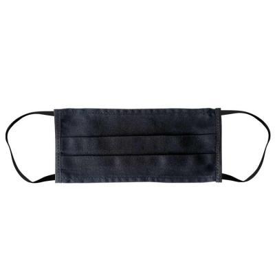 Ecofábrica - – Máscara com parede simples em tecido brim leve 190 grs – Dimensões 20 x 9 cm –  Brim Leve 100% Algodão com tratamento indanthren, preto. – Com uma p...