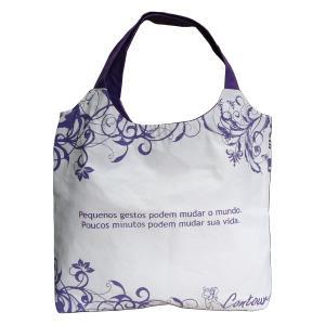 Ecofábrica - Bolsa personalizada - Medidas: 51 x 49 x 10 cm (tipo envelope - sem lateral). Fabricada em lona 100% algodão.