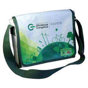 ecofabrica - Bolsa carteiro ecológica horizontal personalizada em lona de algodão cru (artigo 490 gr / m²) - Toda forrada fechamento com aba e dois botões de imã.