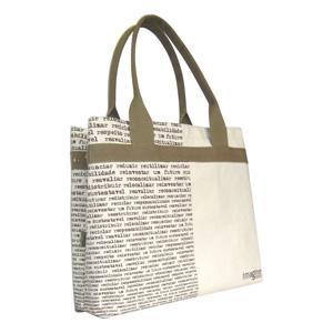 Ecofábrica - Bolsa / Ecobag ecológica personalizada em lona de algodão (artigo cru 390 gr / m²) - Compartimento principal com acesso livre.