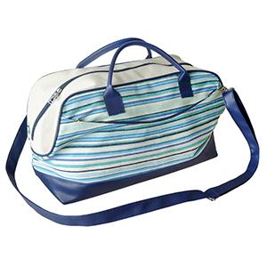 ecofabrica - Bolsa de viagem Montreal, dois bolsos, acesso por zíper e um cursor, um de cada lado, acabamento interno com viés