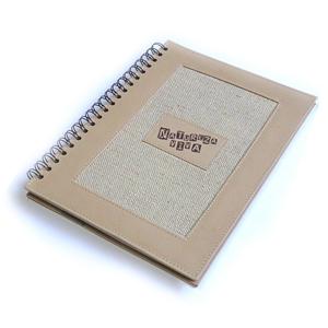 ecofabrica - Caderno personalizado com capa em couro reciclado natural. Medidas: 21 x 28 cm. Com 100 folhas em papel reciclado, impressão 1 x 1  cor.
