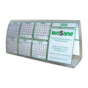 ecofabrica - Calendário ecológico de mesa personalizado em plástico PET 100% reciclado - Originado através da reciclagem de embalagens de refrigerante.