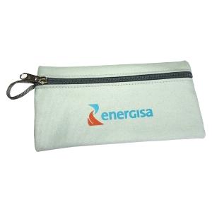Ecofábrica - Estojo personalizado - Medidas: 20 x 10 cm, 100% algodão. Personalização através de serigrafia aplicada diretamente na lona.