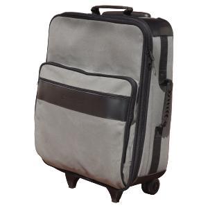ecofabrica - Mala de viagem personalizada em lona - Medidas: 260 x 400 x 570 mm (A x L x P) - Lona 100% algodão - Cantoneiras externas em couro legítimo preto fosc...