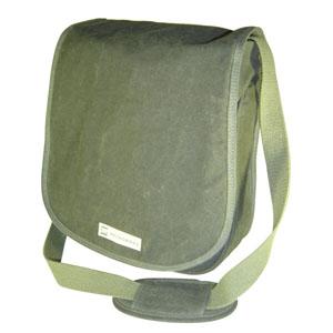 Mochila Ecológica Personalizada em lona de algodão, colorida verde-musgo ou lona reciclada de cargas de caminhão.