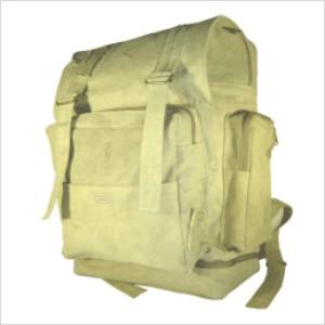 Ecofábrica - Mochila ecológica personalizada em lona de algodão, reciclada de cargas de caminhão ou colorida.