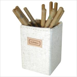 Ecofábrica - Porta-papel ecológico personalizado, com estrutura rígida e acabamento externo em lona de algodão cru ou colorida - Acabamento interno em papel kraft.
