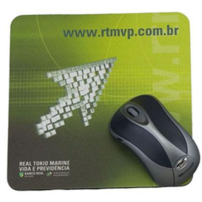 Artebelli Promocional - Mouse Pad de alta qualidade e resistência, gravação cromia podendo ter faca especial.
