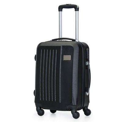 Malgueiro Brindes - Mala de viagem personalizada, confeccionada em ABS com 4 rodas giratórias (360º) e duas alças de mão. Puxador extensível em alumínio, com mola (altura...